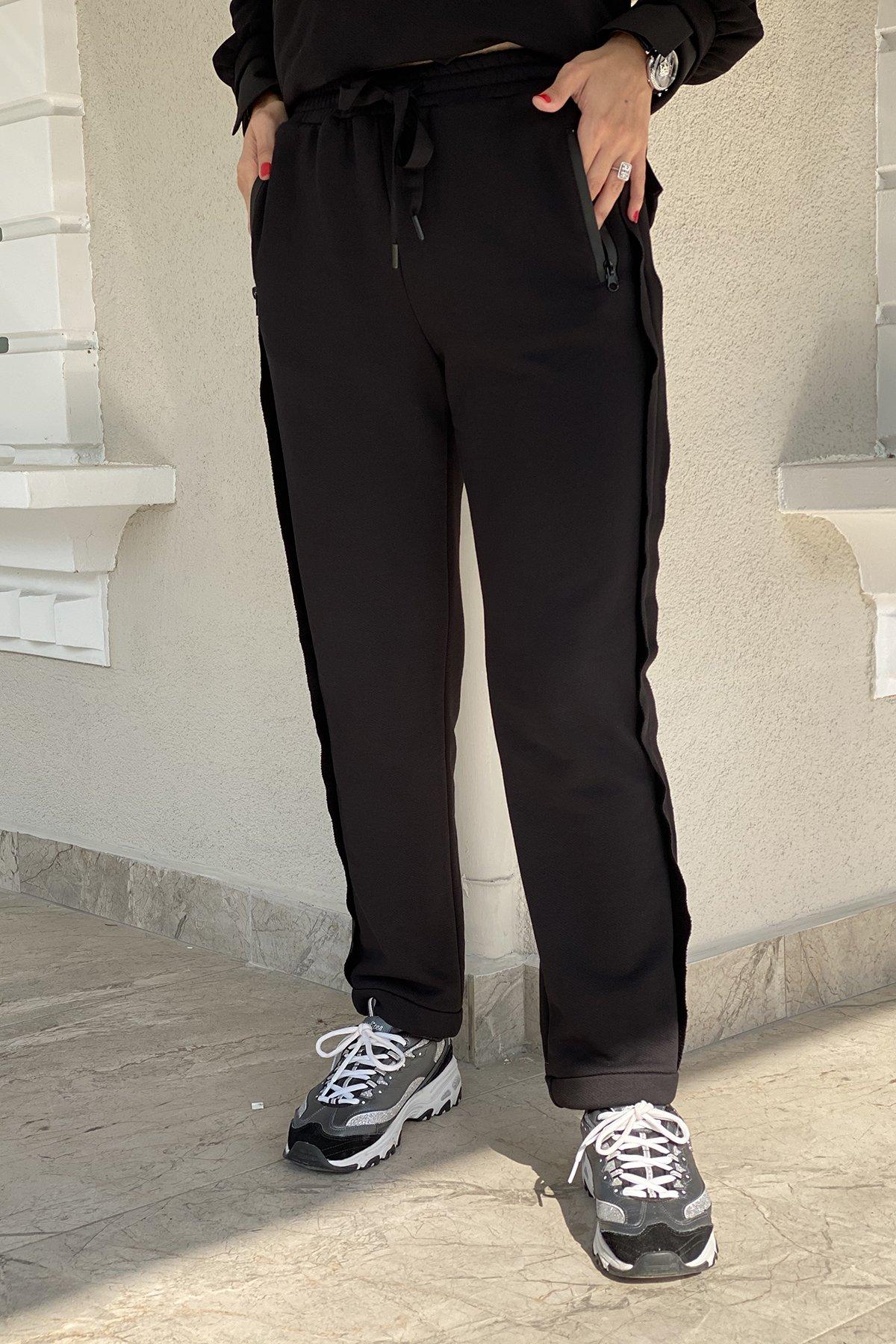 Cep Fermuar Detaylı Kadın Pantolon